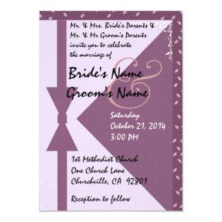 PLUM PURPLE Envelope Design Wedding Invitation