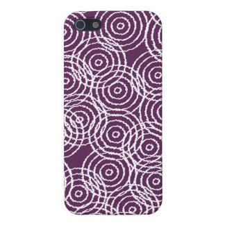 Plum Purple Ikat Overlap Circles Geometric Pattern Case For The iPhone 5