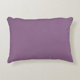Plum Solid Color Decorative Cushion