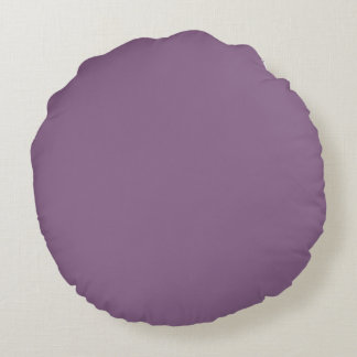 Plum Solid Color Round Cushion