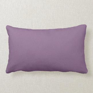 Plum Solid Colour Lumbar Cushion