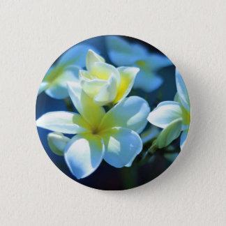 plumeria flower 6 cm round badge