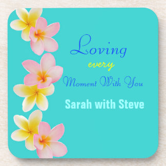 Plumeria Wedding Coasters for Newly Wed Couples
