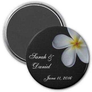 Plumeria Wedding Magnet