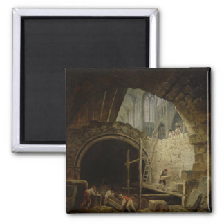 Plundering the Royal Vaults Square Magnet