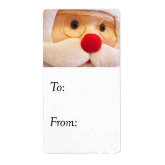 Plush Santa Claus Gift Tag