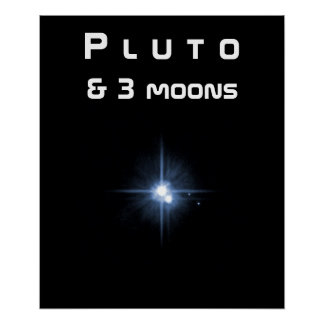 Pluto & 3 Moons Poster