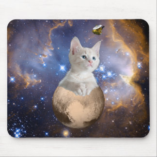 Pluto and Cute Kitten Customizable Mouse Pad