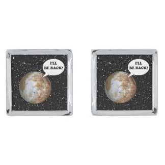 PLUTO: I'LL BE BACK! (solar system) ~ Cuff Links