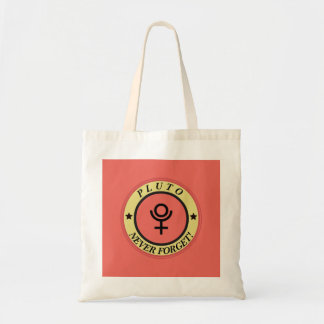Pluto, never forget tote bag