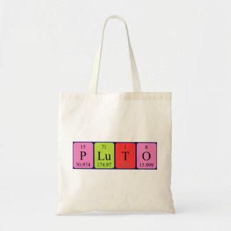 Pluto periodic table name tote bag