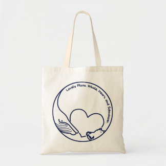 < Pluto >Pluto - Whale, Heart and Schnauzer (Navy) Tote Bag