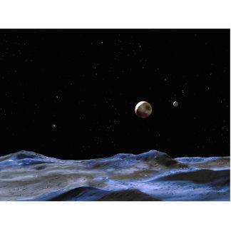Pluto Space Art NASA Photo Cut Out