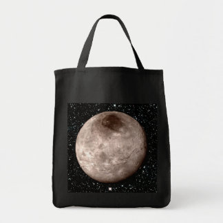 PLUTO'S MOON CHARON star background (solar system) Tote Bag