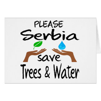 Plz Serbia Save Tree & Water Cards