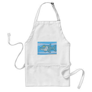 png_cartoon-shark-underwater Funny blue fish Aprons