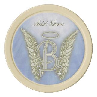 Pocket Angel Monogram Letter B Poker Chips
