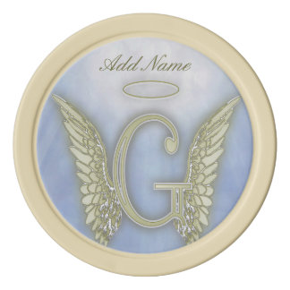 Pocket Angel Monogram Letter G Poker Chips