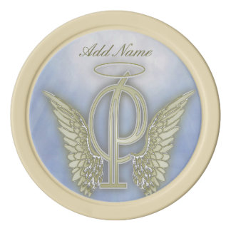 Pocket Angel Monogram Letter P Set Of Poker Chips