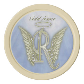 Pocket Angel Monogram Letter R Poker Chips