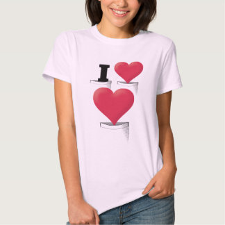 Pocket I Love Love Tee Shirts
