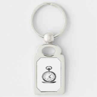 Pocket Watch Vintage Newspaper Ad Key Ring