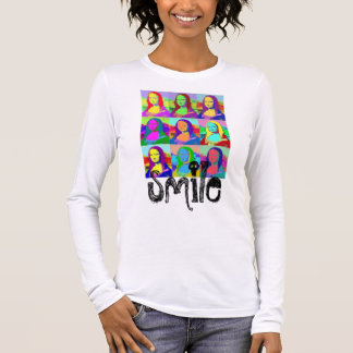 podALMIGHTY.net MONA LISA SMILE Long Sleeve T-Shirt