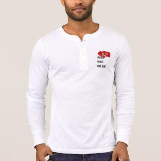 podpilots.com MAKE WINE NOT WAR henley T-Shirt