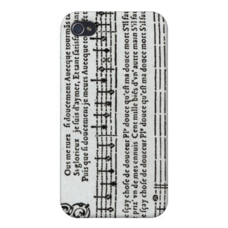 Poem to music by Jean Antoine de Baif iPhone 4 Cover