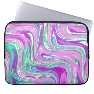 Poetic Purple Swirl Abstract Laptop Sleeve