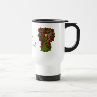 Poinsettia Christmas Faery Mug