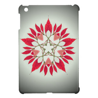poinsettia christmas star design cover for the iPad mini