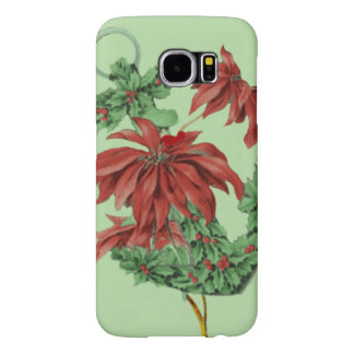 Poinsettia Holly Anchor Nautical Samsung Galaxy S6 Cases