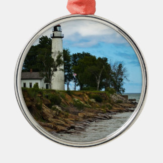Pointe Aux Barques Lighthouse Christmas Ornament