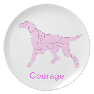 Pointer Courage Cancer Awareness Plate