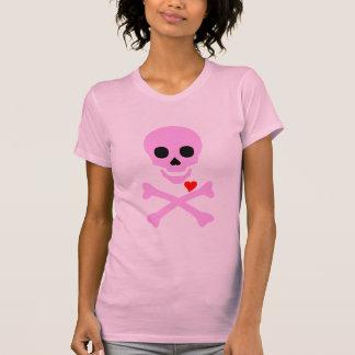Poison Pink Valentine Skull & Crossbones Hearts T-Shirt