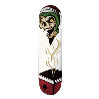 Poker Box Joker Zombie Skull Custom Skateboard