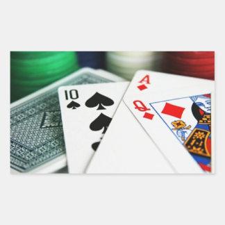 Poker Cards Rectangular Sticker