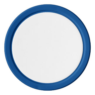 Poker Chips w/ Blue Solid Edge
