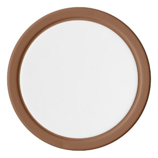 Poker Chips w/ Brown Solid Edge
