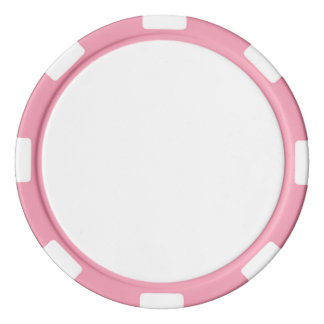 Poker Chips w/ Pink Striped Edge
