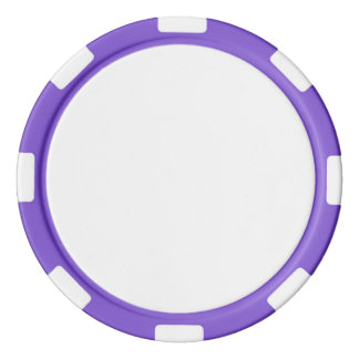 Poker Chips w/ Purple Striped Edge