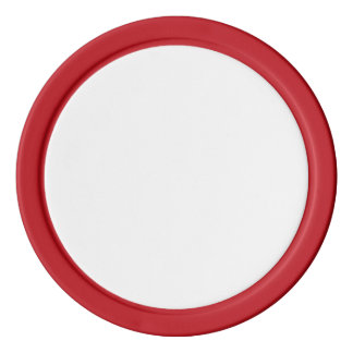 Poker Chips w/ Red Solid Edge