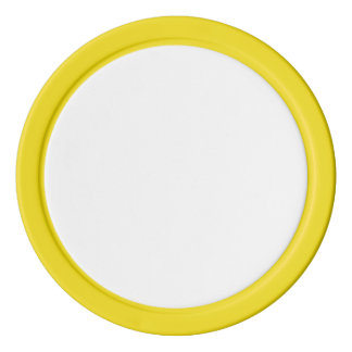 Poker Chips w/ Yellow Solid Edge