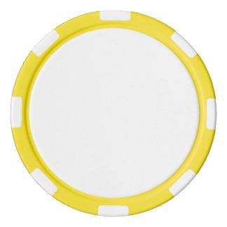 Poker Chips w/ Yellow Striped Edge