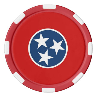 Poker chips with Flag of Tennessee
