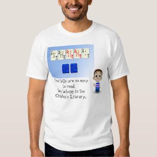 Poker Face Humor T-shirts