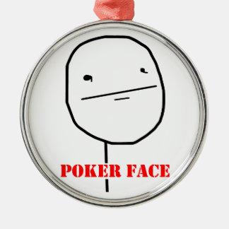 Poker face - meme christmas ornament
