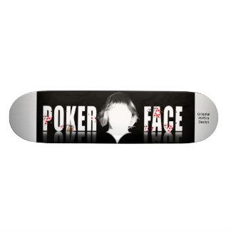 Poker Face, Original MrEco Design Skateboard