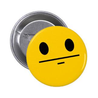 Poker Face Smiley 6 Cm Round Badge